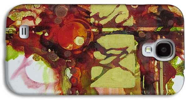 Curvilinear Paintings Galaxy S4 Cases - I saved these colors just for you Galaxy S4 Case by Patricia Mayhew Hamm