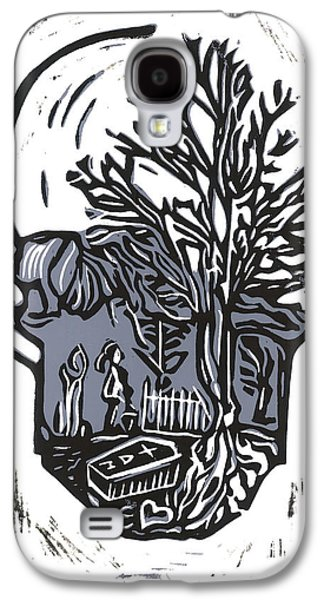 Lino Mixed Media Galaxy S4 Cases - I Shouldnt Be Doing This Galaxy S4 Case by Kevin Houchin