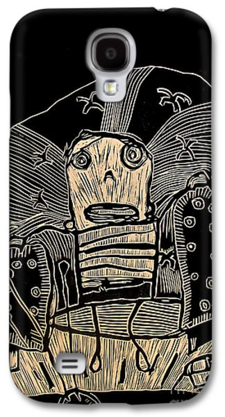 Printmaking Drawings Galaxy S4 Cases - I Think It Thinks I Dont Think Galaxy S4 Case by Charlie Spear