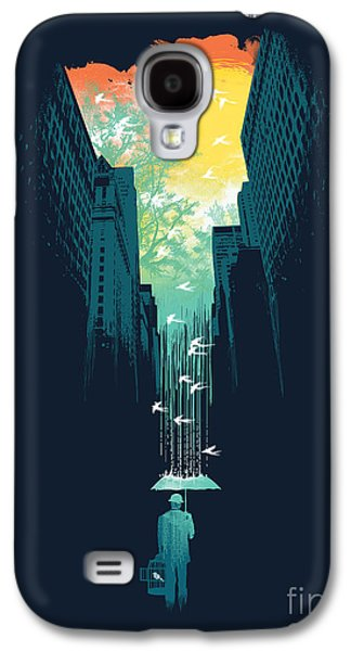 Surrealism Galaxy S4 Cases - I want my blue sky Galaxy S4 Case by Budi Satria Kwan