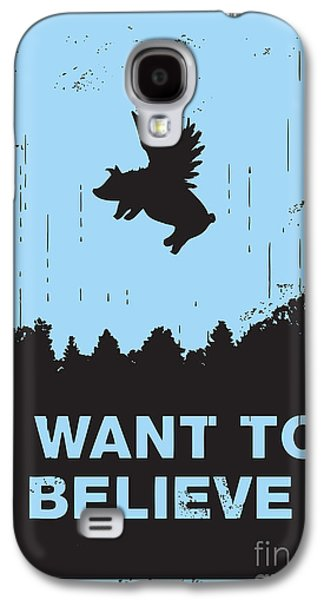 Cute Digital Galaxy S4 Cases - I want to believe Galaxy S4 Case by Budi Kwan