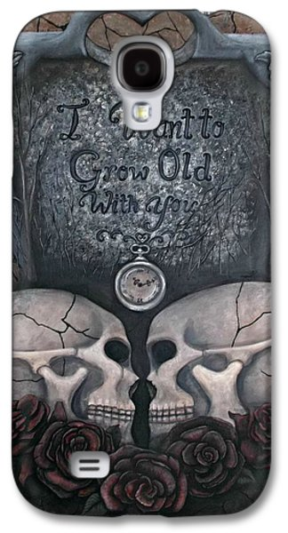 Headstones Paintings Galaxy S4 Cases - I Want to Grow Old With You Galaxy S4 Case by Meranda Hedderson