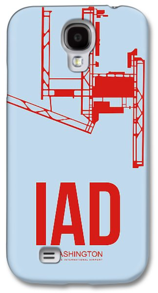 Iad Washington Airport Poster 2 Galaxy S4 Case by Naxart Studio