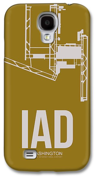 Iad Washington Airport Poster 3 Galaxy S4 Case by Naxart Studio