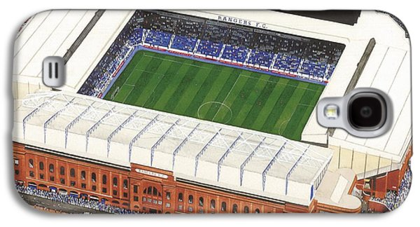 Art Mobile Galaxy S4 Cases - Ibrox - Glasgow Rangers Galaxy S4 Case by Kevin Fletcher