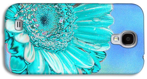 Botanical Digital Art Galaxy S4 Cases - Ice blue Galaxy S4 Case by Carol Lynch
