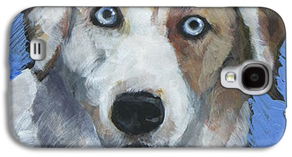 Cattle Dog Galaxy S4 Cases - Ice Blue Galaxy S4 Case by Mary Medrano