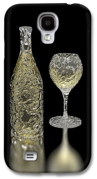 Icewine Galaxy S4 Cases - Ice Bottle and Glass Galaxy S4 Case by Hakon Soreide
