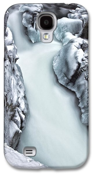 River Scenes Photographs Galaxy S4 Cases - Ice Creek Cascade Galaxy S4 Case by Darren  White