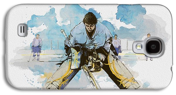 Goalkeeper Paintings Galaxy S4 Cases - Ice Hockey Galaxy S4 Case by Corporate Art Task Force