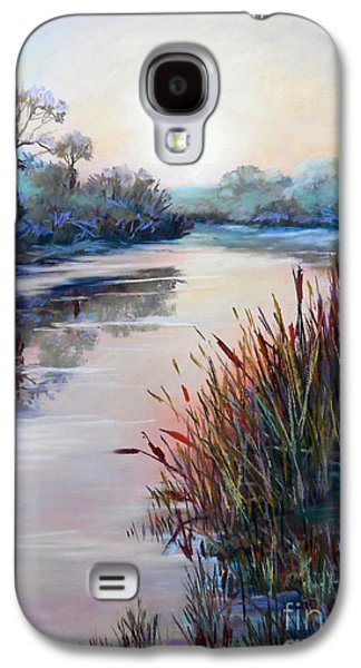 Impressionism Sculptures Galaxy S4 Cases - Ice on the Canal Galaxy S4 Case by Heather Harman