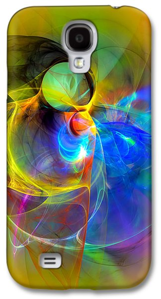 Abstract Digital Art Galaxy S4 Cases - Ice Skater Galaxy S4 Case by GP Images
