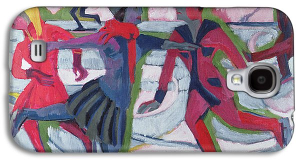 Slush Galaxy S4 Cases - Ice Skaters  Galaxy S4 Case by Ernst Ludwig Kirchner