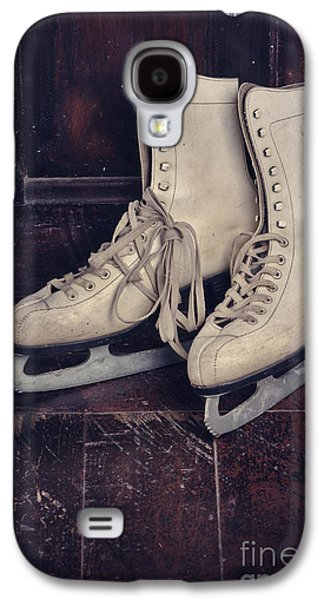 Greeting Cards Pyrography Galaxy S4 Cases - Ice Skates Galaxy S4 Case by Jelena Jovanovic