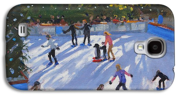 Ice-skating Galaxy S4 Cases - Ice skating Galaxy S4 Case by Andrew Macara