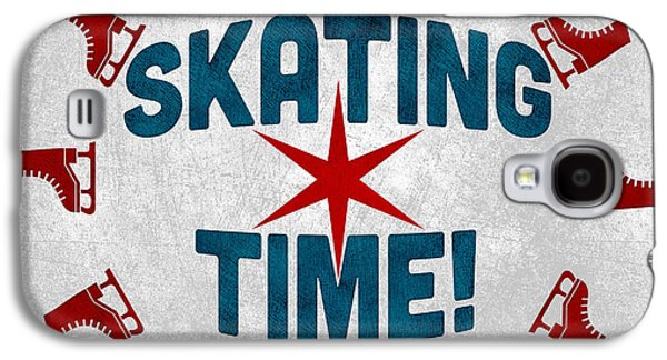 Ice Skating Time Galaxy S4 Case by Flo Karp