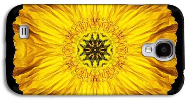 David J Bookbinder Galaxy S4 Cases - Iceland Poppy Flower Mandala Galaxy S4 Case by David J Bookbinder