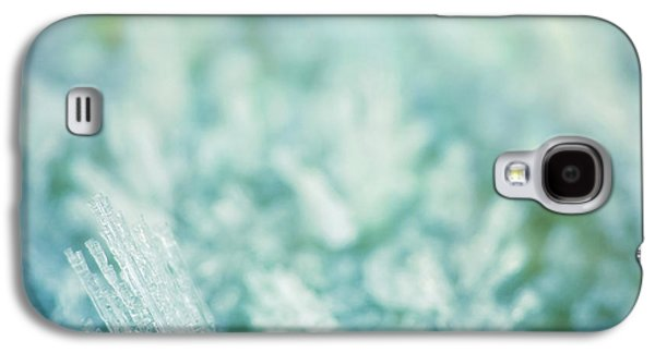 Abstract Digital Photographs Galaxy S4 Cases - Frost Crystals Galaxy S4 Case by Wim Lanclus