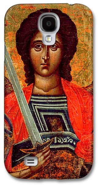 Orthodox Icon Galaxy S4 Cases - Icon of the Angel Michael Galaxy S4 Case by Greek School
