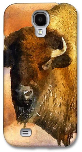 Bison Digital Art Galaxy S4 Cases - Icon of the Plains Galaxy S4 Case by RC DeWinter