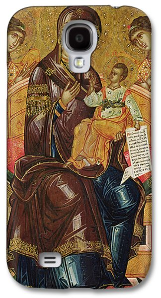 Jesus With Children Galaxy S4 Cases - Icon of the Virgin and Child with Archangels and Prophets Galaxy S4 Case by Longin