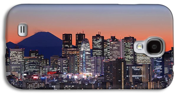 Iconic Mt Fuji With Shinjuku Skyscrapers Galaxy S4 Case by Duane Walker