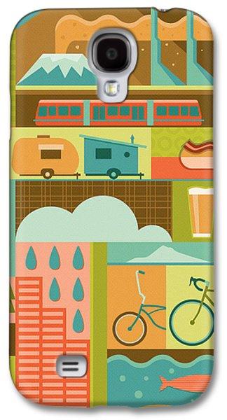 Iconic Portland Galaxy S4 Case by Mitch Frey