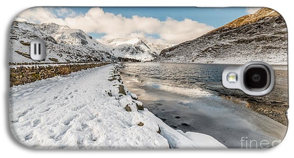 Winter Digital Art Galaxy S4 Cases - Icy Lake Galaxy S4 Case by Adrian Evans