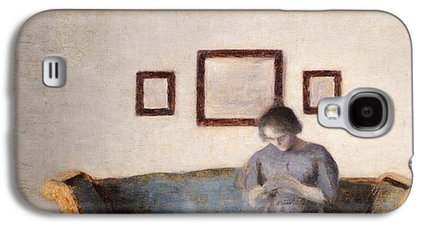 Ida Hammershoi Sitting On A Sofa Galaxy S4 Case by Vilhelm Hammershoi