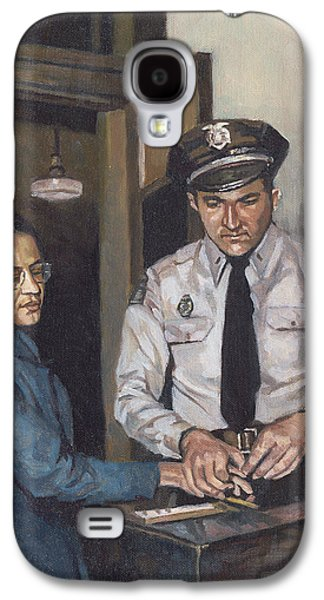 Police Paintings Galaxy S4 Cases - Identification Rosa Galaxy S4 Case by Colin Bootman