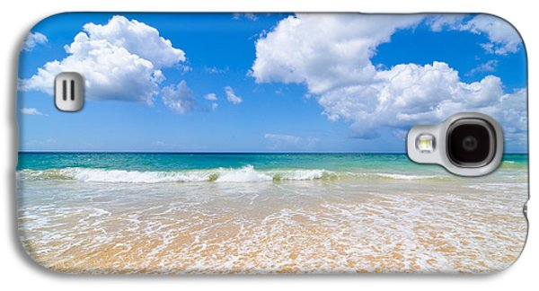 Beach Landscape Galaxy S4 Cases - Idyllic Summer Beach Algarve Portugal Galaxy S4 Case by Amanda And Christopher Elwell