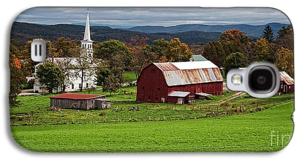 New England Village Galaxy S4 Cases - Idyllic Vermont Small Town Galaxy S4 Case by Edward Fielding