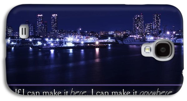 Buildings By The Ocean Galaxy S4 Cases - If I Can Make It Here Galaxy S4 Case by Beverly Claire Kaiya