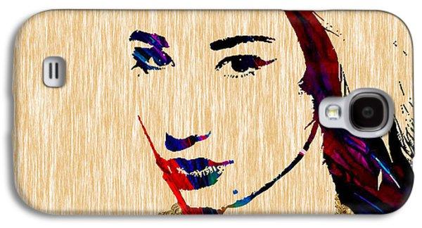 Pop Mixed Media Galaxy S4 Cases - Iggy Azalea Collection Galaxy S4 Case by Marvin Blaine