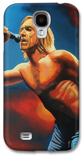 Stage Paintings Galaxy S4 Cases - Iggy Pop Galaxy S4 Case by Paul  Meijering