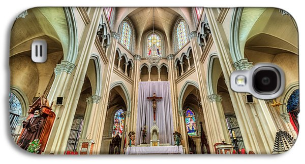 Statue Galaxy S4 Cases - Iglesia de San Isidro de Coronado in Costa Rica Galaxy S4 Case by Andres Leon