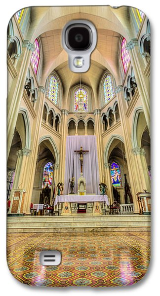 Holy Galaxy S4 Cases - Iglesia de San Isidro de Coronado in Costa Rica Vertical Galaxy S4 Case by Andres Leon