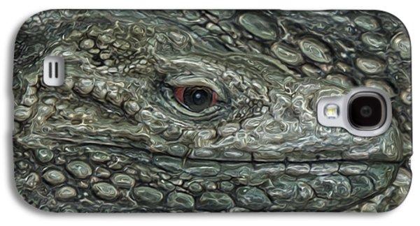 Painter Photo Galaxy S4 Cases - Iguana Galaxy S4 Case by Jack Zulli