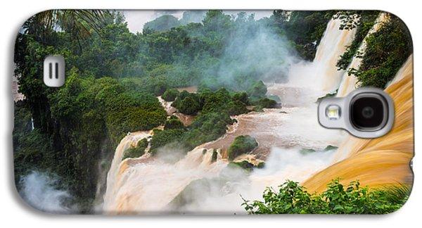 Raging Galaxy S4 Cases - Iguazu Natural Wonder Galaxy S4 Case by Inge Johnsson