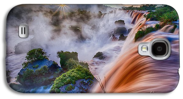 Raging Galaxy S4 Cases - Iguazu Sunrise Galaxy S4 Case by Inge Johnsson