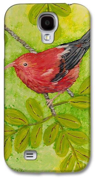 Bright Colors Glass Art Galaxy S4 Cases - Iiwi Galaxy S4 Case by Anna Skaradzinska