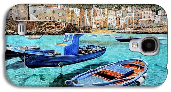 Galaxy Paintings Galaxy S4 Cases - Il Mare Smeraldo Galaxy S4 Case by Guido Borelli