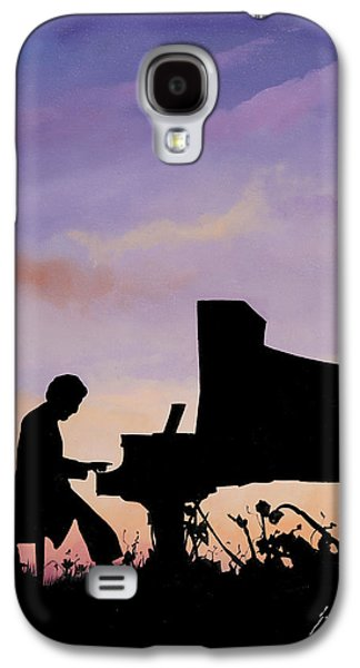 Piano Paintings Galaxy S4 Cases - Il Pianista Galaxy S4 Case by Guido Borelli