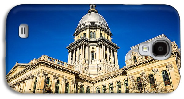 Landmarks Photographs Galaxy S4 Cases - Illinois State Capitol Building in Springfield Galaxy S4 Case by Paul Velgos