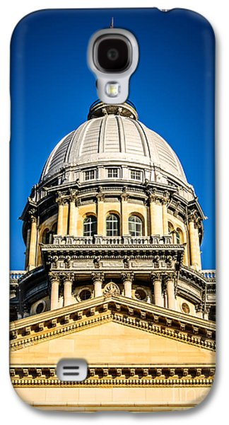 Landmarks Photographs Galaxy S4 Cases - Illinois State Capitol Dome in Springfield Illinois Galaxy S4 Case by Paul Velgos