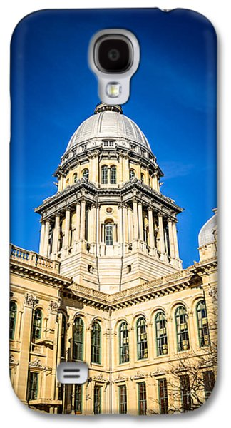 Landmarks Photographs Galaxy S4 Cases - Illinois State Capitol in Springfield Illinois Galaxy S4 Case by Paul Velgos
