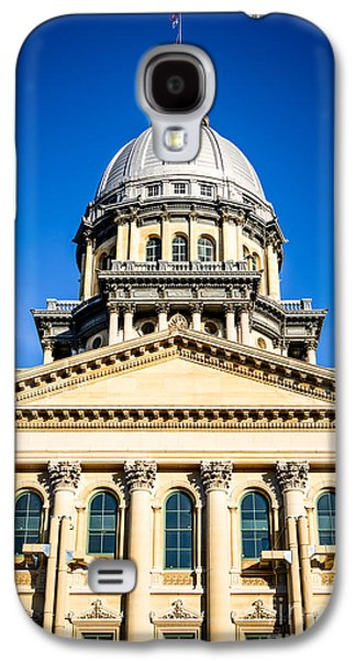 Landmarks Photographs Galaxy S4 Cases - Illinois State Capitol in Springfield Galaxy S4 Case by Paul Velgos