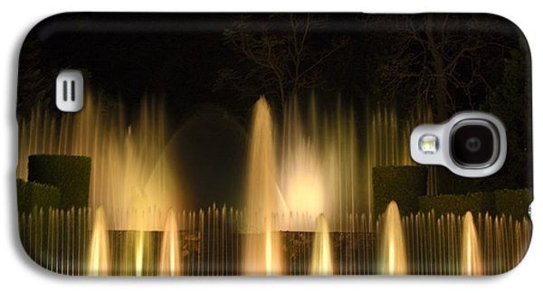 Open Air Theater Galaxy S4 Cases - Illuminated Dancing Fountains Galaxy S4 Case by Sally Weigand