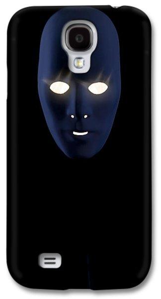 Creepy Galaxy S4 Cases - Illuminated Mask Galaxy S4 Case by Joana Kruse
