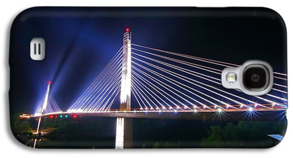 Island Stays Galaxy S4 Cases - Illuminated Penobscot Narrows Bridge and Observatory Galaxy S4 Case by Barbara West